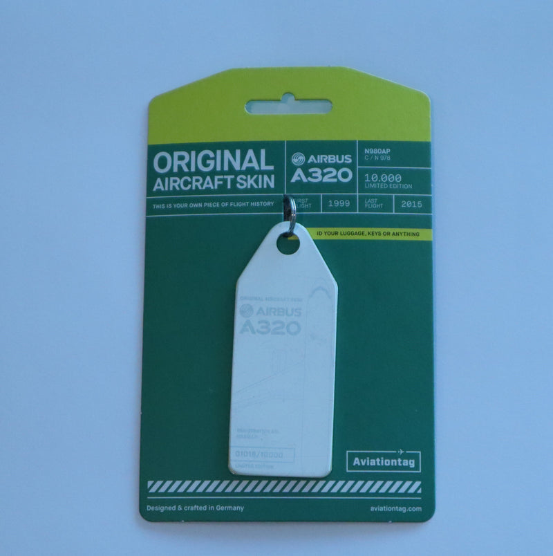Orginal Aircraft Skin - Airbus A320 - Key Tag