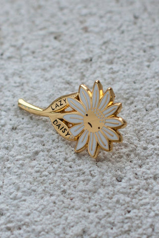 lazy daisy pin | by stay home club