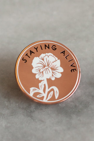 staying alive pin | by stay home club