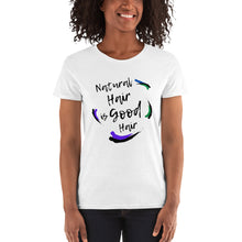 Load image into Gallery viewer, Natural Hair is Good Hair: Women's short sleeve t-shirt