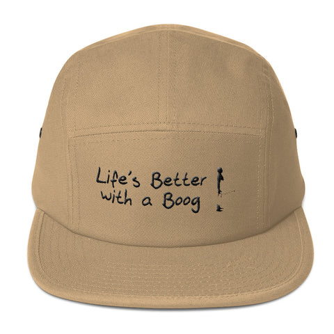 Five Panel Cap Life's Better with a Boog