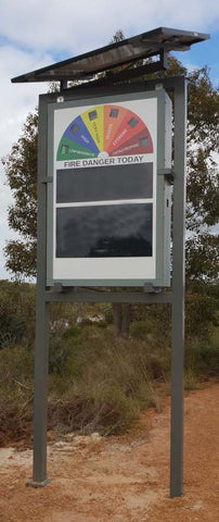 Fire Sign and Notice Board