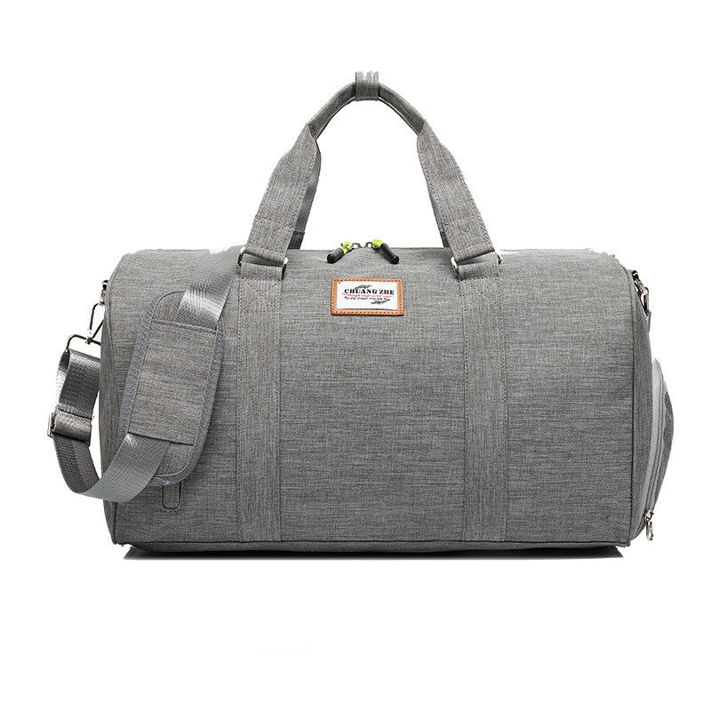Large Canvas Volume Travel Cylinders Men's Top Handles