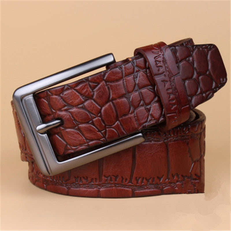 Real Leather Alligator Business Men's Belt
