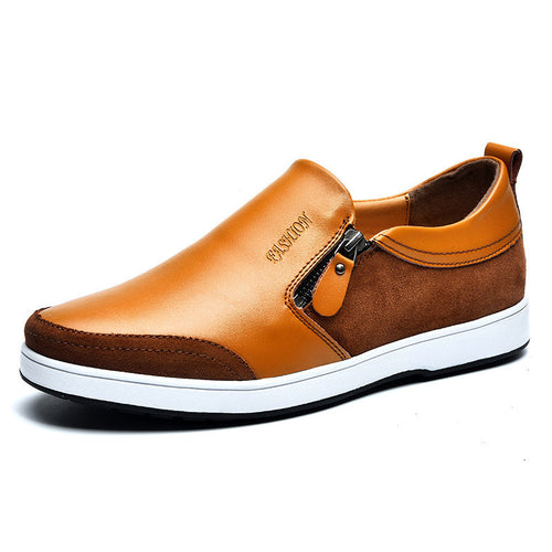 Seams Increase Zipper Men's Casual Shoes