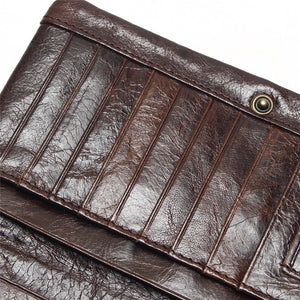 Retro  Genuine Leather Men's Wallets