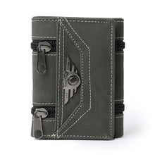 PU Student Personality Zipper Men's Wallet