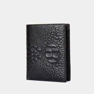 Croco Print Plain Men's Wallets