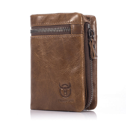 Genuine Leather Multifunction Fold Men's Wallets