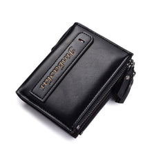 Zippered Multifunction Print Men's Wallets
