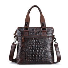 Crocodile Pattern Business Single Shoulder Bag