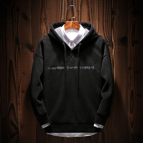 Pullover Long Sleeve Letter Hooded Men's Hoodie