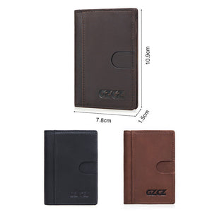 Card Package Genuine Leather Plain Men's Wallets