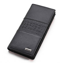 Crocodile Pattern Leather Business Men's Wallet