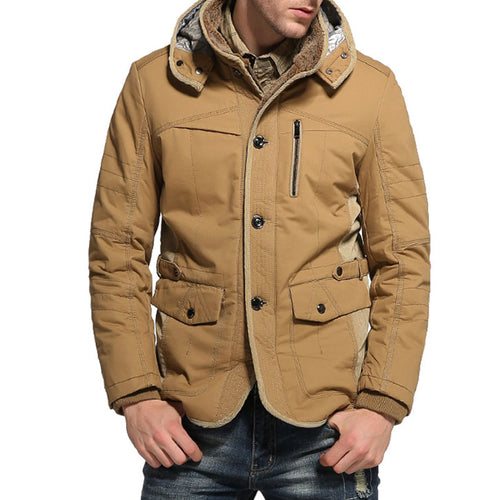 Zipper Casual Pocket Stand Collar Men's Jackets Coat