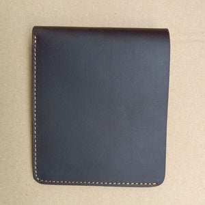 Plain Cow Leather Retro Men's Wallets