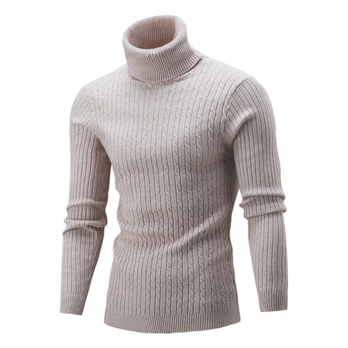 Turtleneck Printing Pullover Long Sleeve Men's Sweater