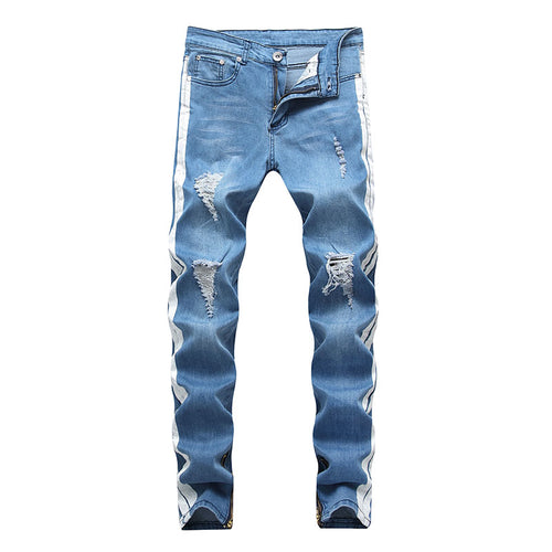 Denim Zipper Casual Pocket Men's Jeans