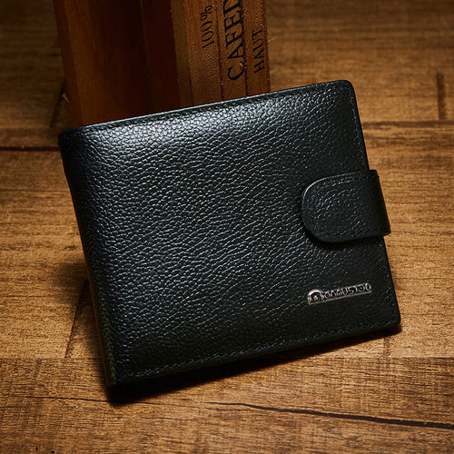 Multifunction Genuine Leather Buckle Men's Wallets