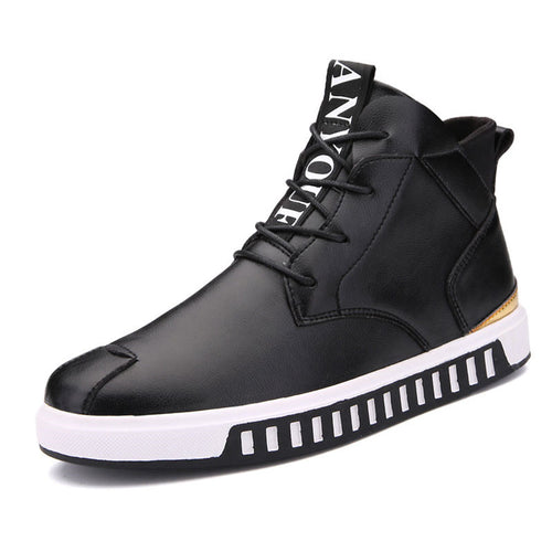 Lace Up Plain Wear Resistant Men's Flat Shoes