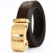 Crocodile Skin Business Men's Belts