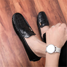 Snake Print Comfortable Men's Casual Shoes