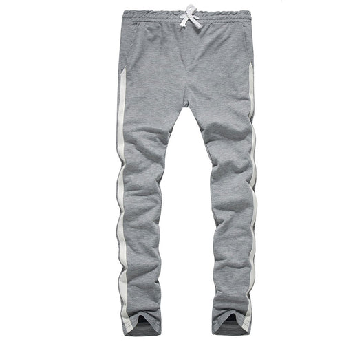Contrast Color Stripe Long Pants Tight Men's Active Pants