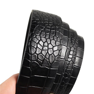 Alligator Striation Alloy Men's Belts