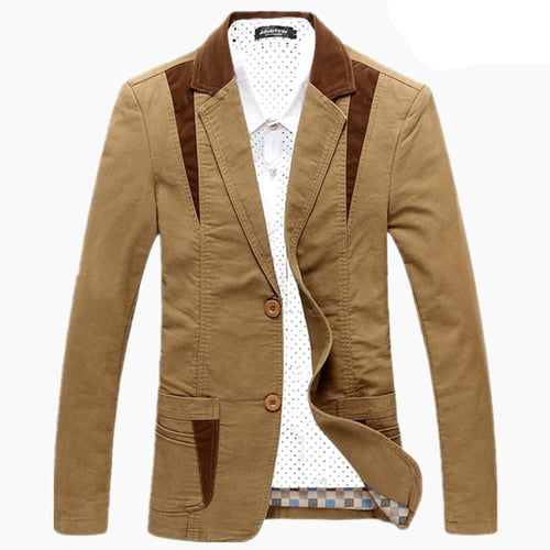 Long Sleeve Single Breasted European Men's Jacket