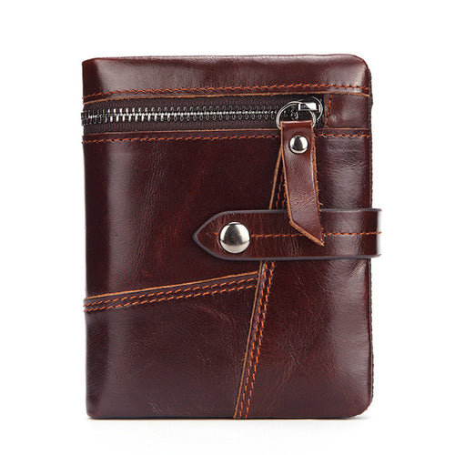 Multifunction  Short Paragraph Zippered Men's Wallets
