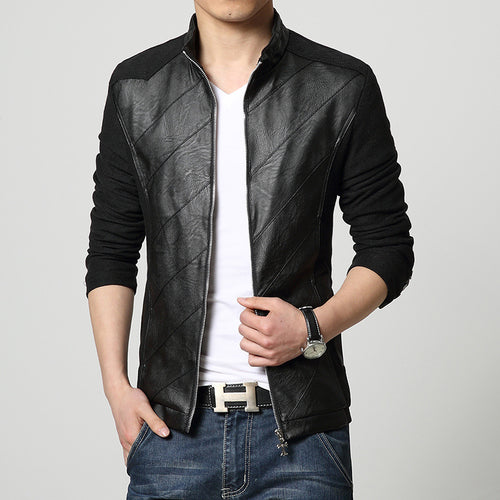 Business Self-cultivation Collar Stitching Men's Jacket