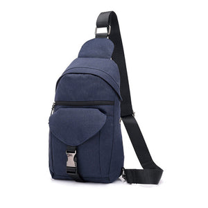Charging Headphone Hole One Shoulder Crossbody Bag