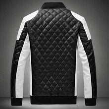 Geometric Stand Collar Zipper Polyester Men's Jackets Coat