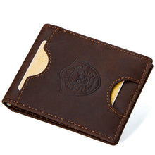 Antimagnetic Business Cow Leather Men's Wallets
