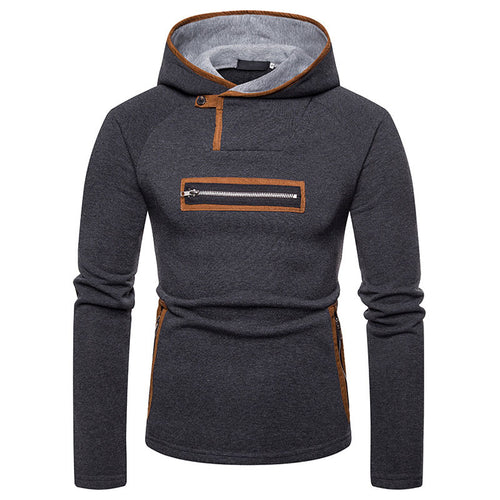 Hooded Pullover Striped Cotton Blends Plus Size Men's Hoodies