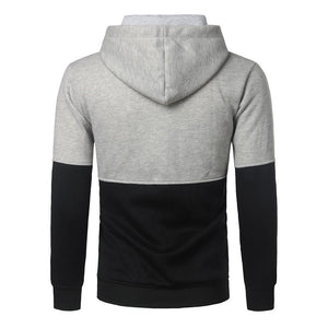 Lace Up Sporty Oversize Patchwork Polyester Men's Hoodies
