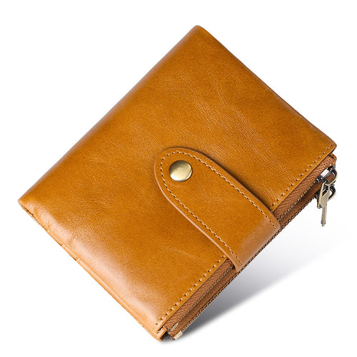 Multifunction Genuine Leather  Short Paragraph Men's Wallets