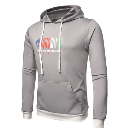 Striped Pullover Cotton Blends Men's Hoodies