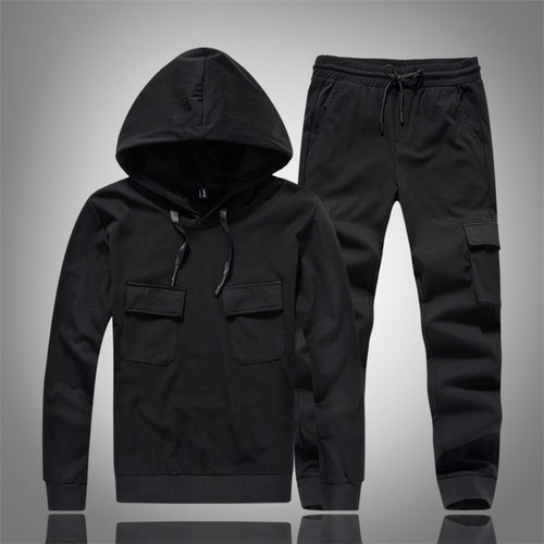 Running Solid Color Simple Retro Men's Sports Suit