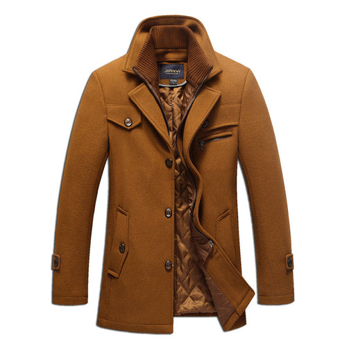Plus Size Detachable Vintage Men's Trench Coat