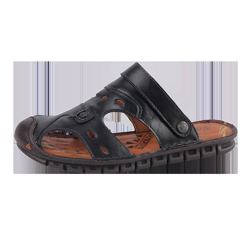 Large Size Soft Bottoms Hollow Men's Sandals