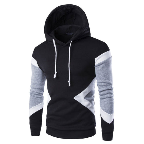 Hooded Color-blocked Pullover Cotton Men's Hoodies