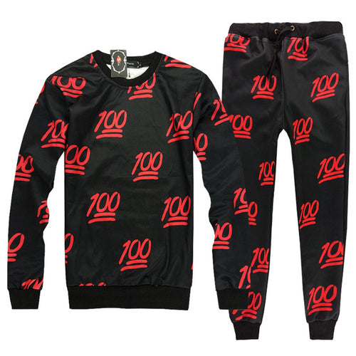 Printing Number Comfortable Regular Men's Sports Suit