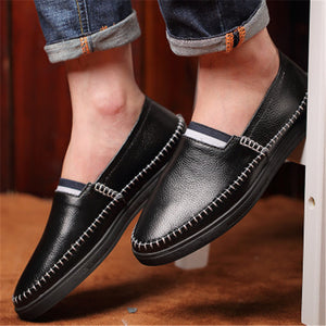Hand-sewed Cowhide Men's Casual Shoes