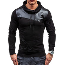 Casual Patchwork Hooded Pullover Slim Men's Hoodies
