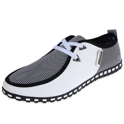 Breathable Wear Resistant Color Block Men's Casual Shoes