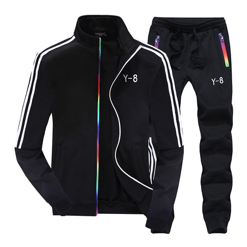 Long Sleeve Standing Collar Men's Sports Suit