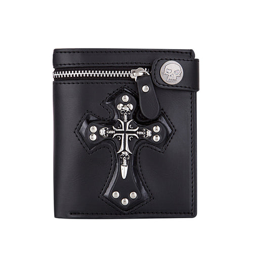 Motorcycle Vintage Skull Men's Wallets
