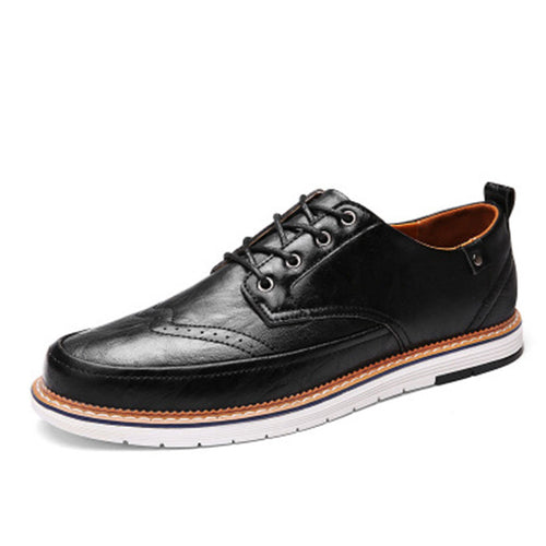 Ventilation Leather Plain Men's Casual Shoes