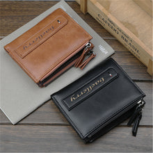 Men's Business Zip Short Style Wallets
